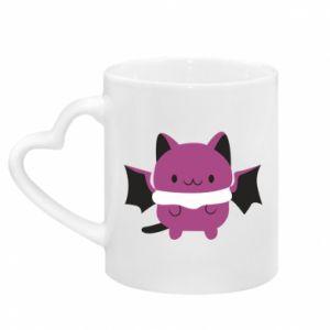 Mug with heart shaped handle Batсat