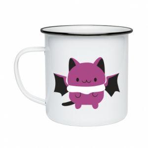 Enameled mug Batсat - PrintSalon