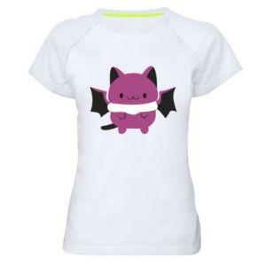 Women's sports t-shirt Batсat - PrintSalon