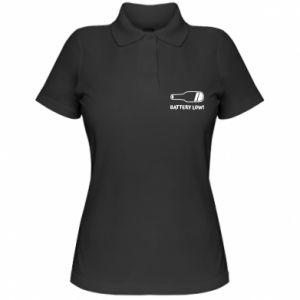 Women's Polo shirt Battery low