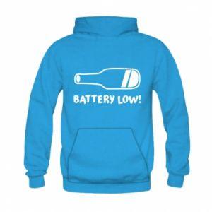 Kid's hoodie Battery low