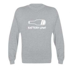 Kid's sweatshirt Battery low