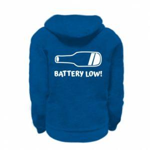 Kid's zipped hoodie % print% Battery low