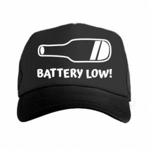 Trucker hat Battery low