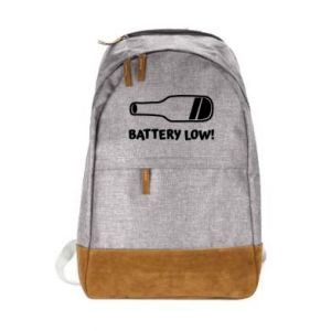 Urban backpack Battery low
