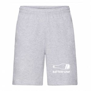 Men's shorts Battery low