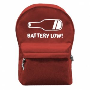 Plecak z przednią kieszenią Battery low