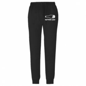 Męskie spodnie lekkie Battery low