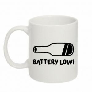 Kubek 330ml Battery low