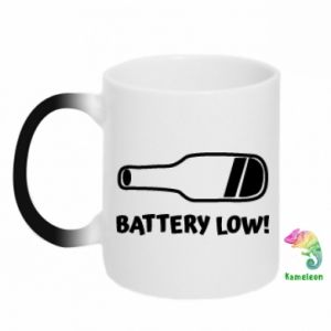 Kubek-kameleon Battery low