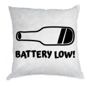 Poduszka Battery low