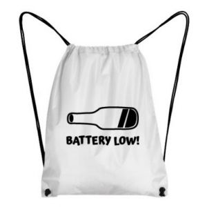 Backpack-bag Battery low