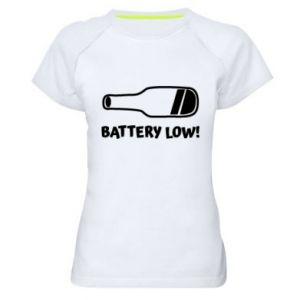 Women's sports t-shirt Battery low