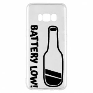 Phone case for Samsung S8 Battery low