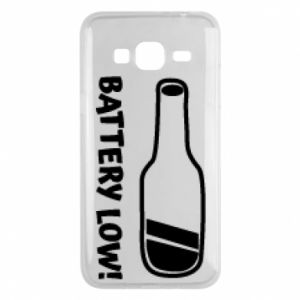 Phone case for Samsung J3 2016 Battery low