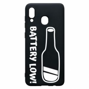 Phone case for Samsung A20 Battery low