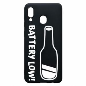 Phone case for Samsung A30 Battery low