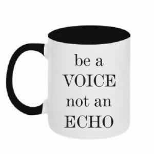 Kubek dwukolorowy Be a voice not an echo