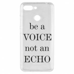 Phone case for Xiaomi Redmi 6 Be a voice not an echo