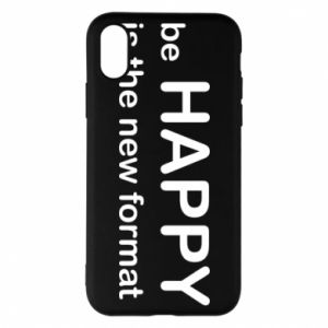 Etui na iPhone X/Xs Be happy is the new format