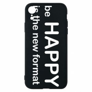 Etui na iPhone XR Be happy is the new format