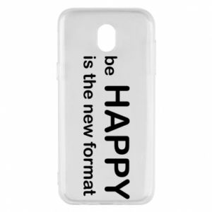 Etui na Samsung J5 2017 Be happy is the new format