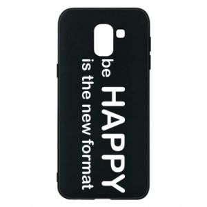 Etui na Samsung J6 Be happy is the new format