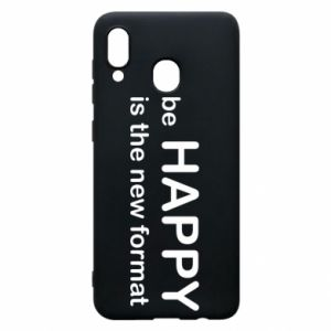 Etui na Samsung A30 Be happy is the new format