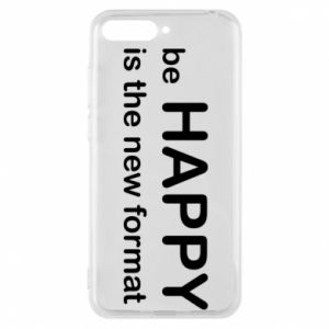 Etui na Huawei Y6 2018 Be happy is the new format