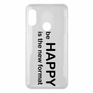 Etui na Mi A2 Lite Be happy is the new format