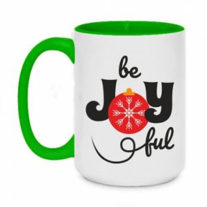 Two-toned mug 450ml Be joyful