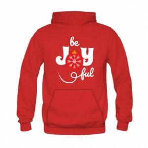 Bluza z kapturem dziecięca Be joyful