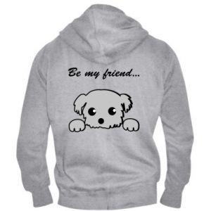 Men's zip up hoodie Be my friend