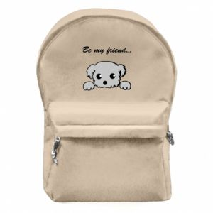 Backpack with front pocket Be my friend