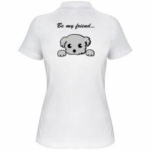 Damska koszulka polo Be my friend