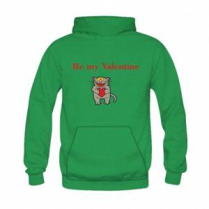 Kid's hoodie Be my Valentine