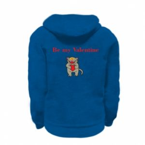 Kid's zipped hoodie % print% Be my Valentine