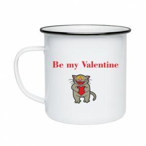 Enameled mug Be my Valentine