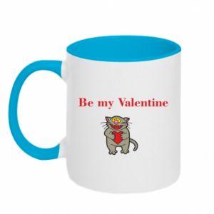 Kubek dwukolorowy Be my Valentine