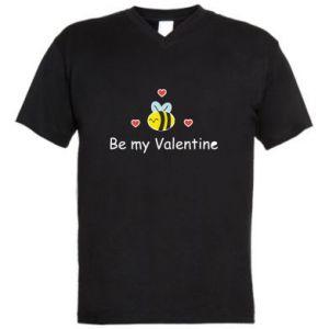 Męska koszulka V-neck Pszczoła i serce
