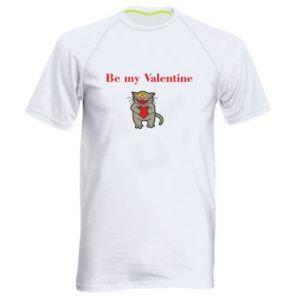 Męska koszulka sportowa Be my Valentine