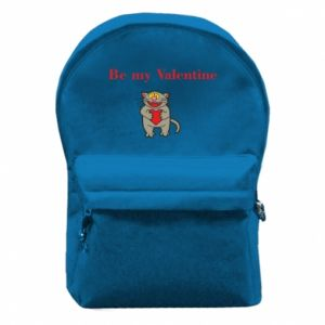 Backpack with front pocket Be my Valentine