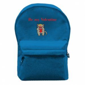 Plecak z przednią kieszenią Be my Valentine