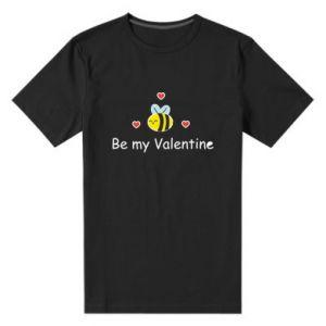 Męska premium koszulka Pszczoła i serce