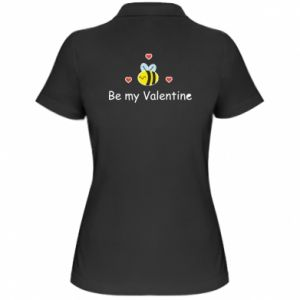 Koszulka polo damska Pszczoła i serce