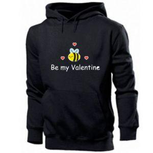 Men's hoodie Bee and hearts