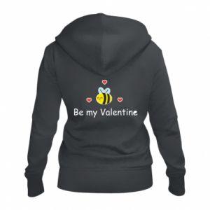 Damska bluza na zamek Pszczoła i serce