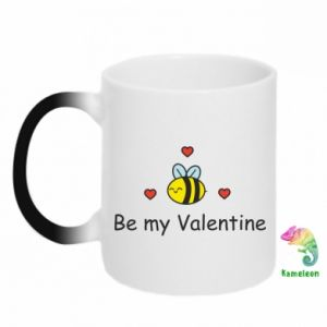 Chameleon mugs Bee and hearts