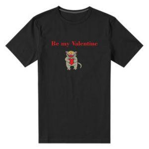 Męska premium koszulka Be my Valentine