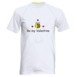 Męska koszulka sportowa Pszczoła i serce